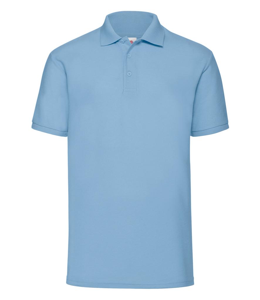 Fruit of the Loom Poly//Cotton Piqué Polo Shirt Black White Blue Grey 3XL 4XL 5XL