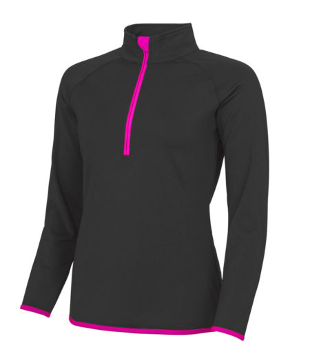 AWDis Cool Girlie Half Zip Sweat Top
