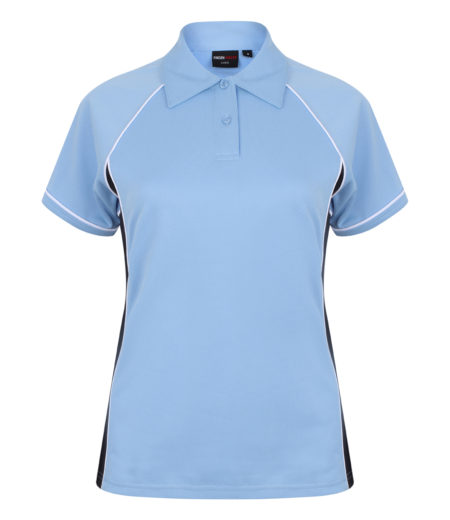 Finden and Hales Ladies Performance Piped Polo Shirt