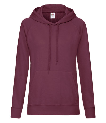 Fruit of the Loom Lady Fit Lightweight Hooded Sweatshirt